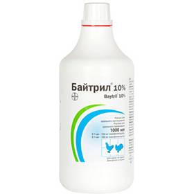 Противомикробный препарат Bayer Baytril Байтрил, 10%, 1 л