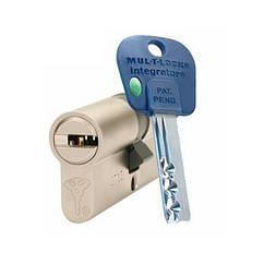 Цилиндр Mul-t-lock Integrator ключ/ключ никель сатин 90 мм