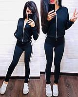 Женский спортивный костюм, костюм для прогулок есть большой размер S/M/L/XL (темно-синий), фото 1
