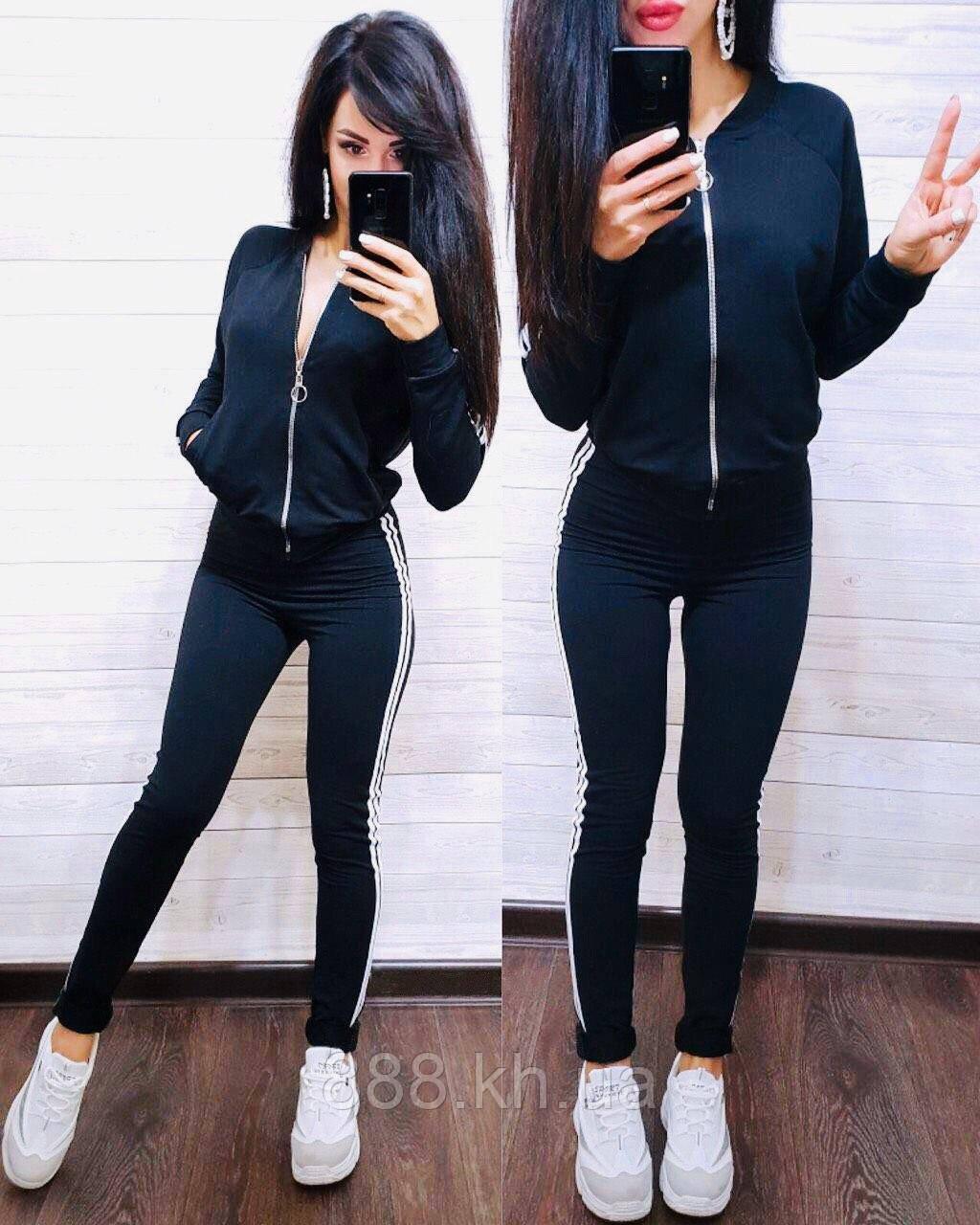Женский спортивный костюм, костюм для прогулок есть большой размер S/M/L/XL (темно-синий)