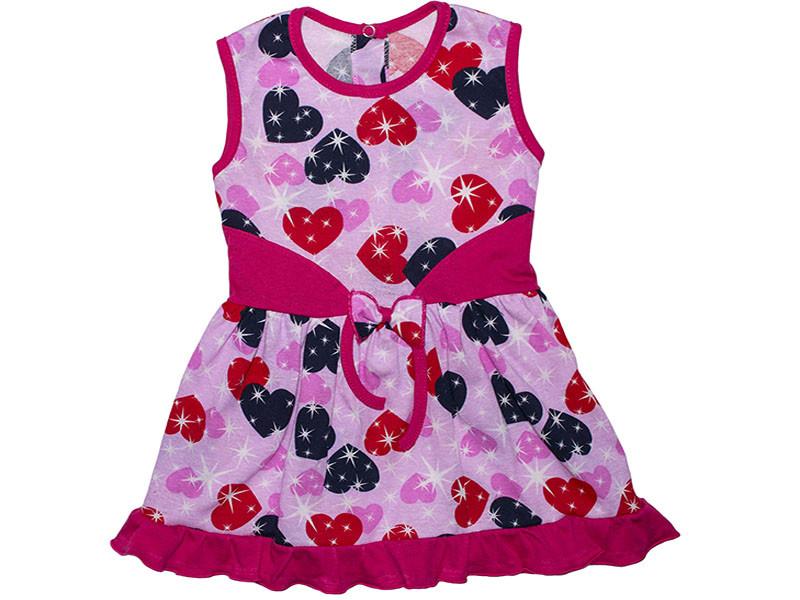 Платье для девочки летнее Сердечко