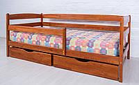 Деревянная детская кровать Марио Люкс с бортиком Олимп 70*140