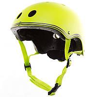 Шлем защитный детский Globber, зеленый, с фонариком, 45-51см XXS/XS (506-106)