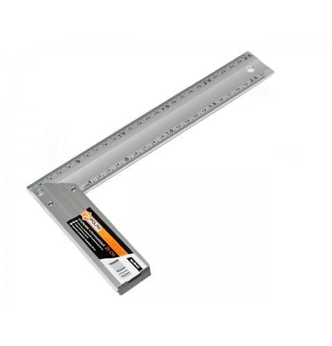 "ТМ""POLAX"" Угольник алюминиевый по 2 шкалы на 2х сторонах 25 см (шт.)"