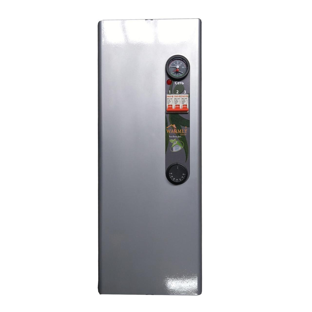 Котел електричний Warmly CLASSIK MG 6 кВт 220/380 В (з насосом + безшумний реле)