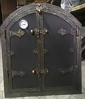 """Дверка для коптильні овал """"Стріла"""" утеплена 50x60, фото 1"""