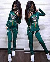 Женский спортивный костюм, костюм для прогулок S/M/L/XL/2XL (зеленый), фото 1