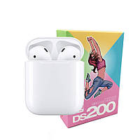 Беспроводные сенсорные наушники i12 TWS DS 200 Headset / Цвет - Белые