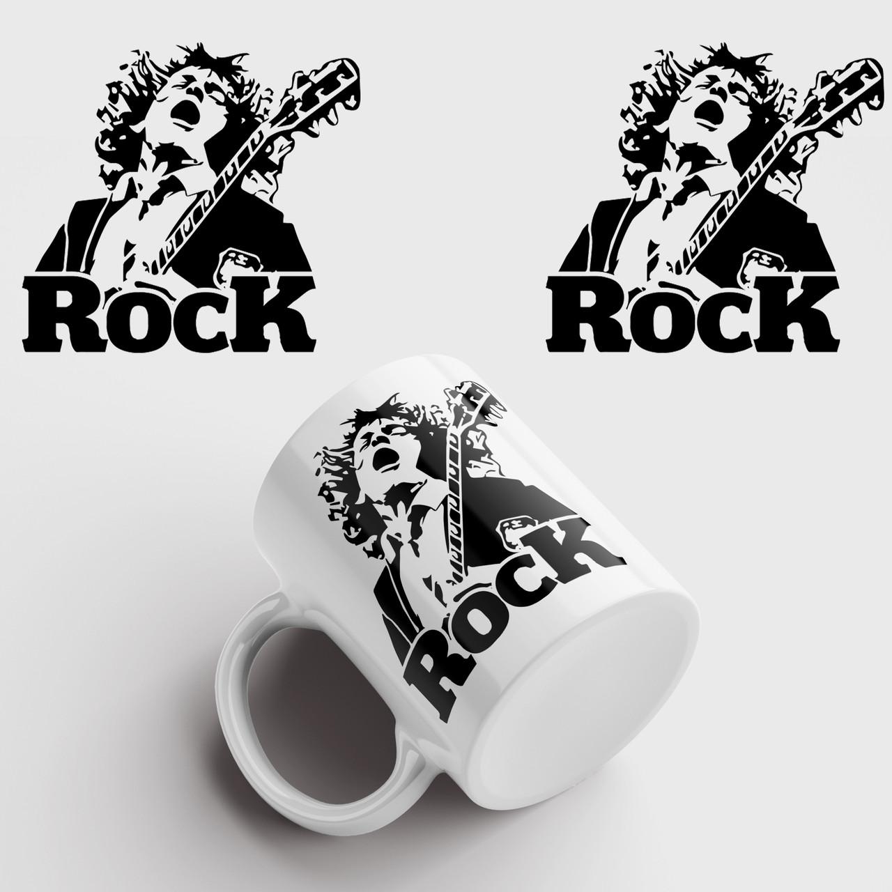 Кружка с принтом AC/DC. Rock. Рок. Чашка с фото