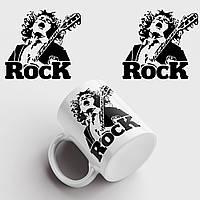 Кружка с принтом AC/DC. Rock. Рок. Чашка с фото, фото 1