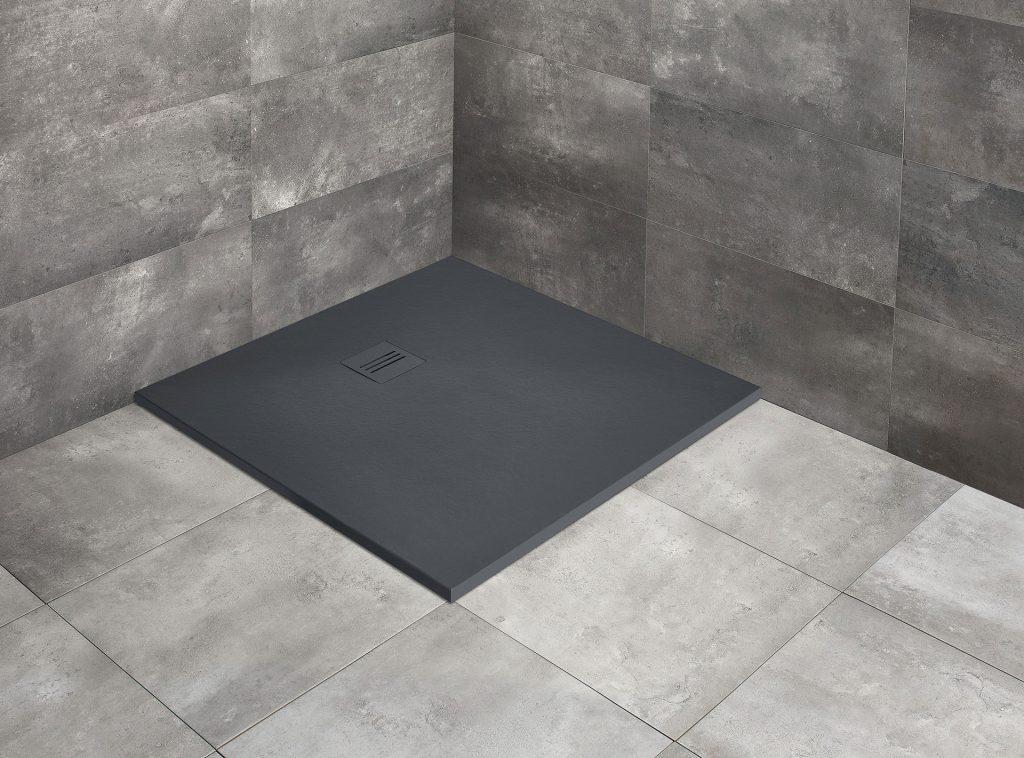 Душевой поддон квадратный Radaway Kyntos C anthracite тёмно-серый