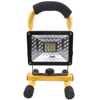 Переносной фонарь-прожектор Lesko W-804 Black + Yellow светодиодный ручной 30Вт защита IP65 портативный