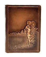 """Ежедневник А6 формата в кожаной обложке блок сменный не датированный """"Купальщица"""""""