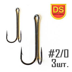 Крючок DOUBLE HOOK Long №2/0 Днипро-Свинец (3 шт.)