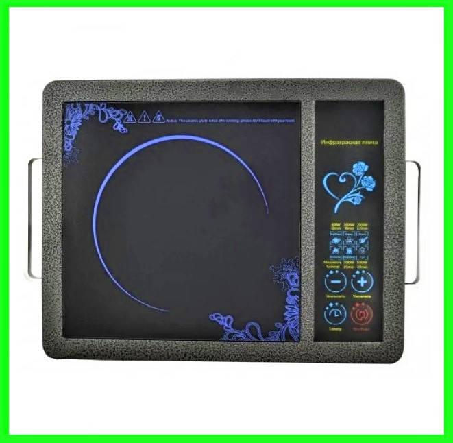 Инфракрасная электроплита 2000 Вт с таймером электрическая печь, фото 2