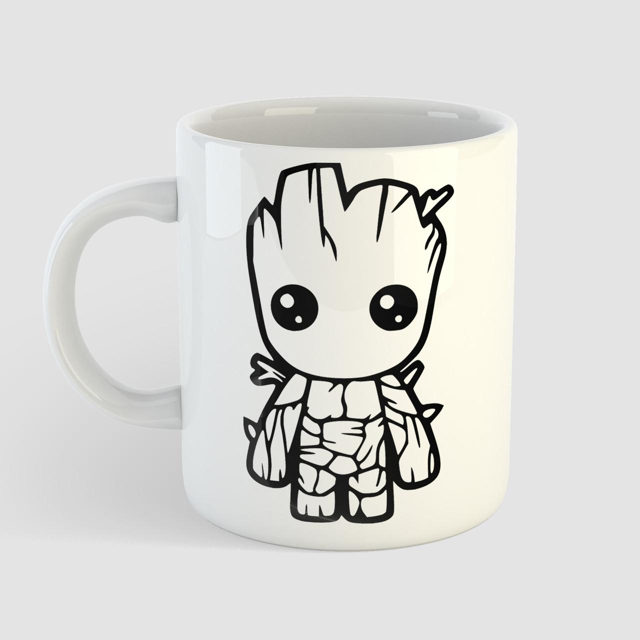 Чашка з принтом Малюк Грут. Вартові Галактики. Marvel