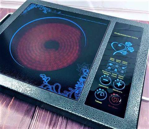 Инфракрасная электроплита 2000 Вт с таймером электрическая печь, фото 3