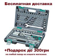 "Набор инструмента STELS 1/2"", 1/4"", CrV, пластиковый кейс 82 предм. (14105)"