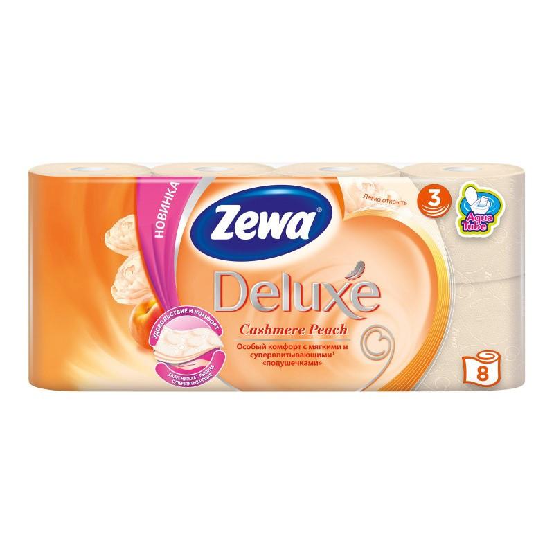 Туалетний папір Zewa Deluxe Cashmere Peach, тришарова, 8шт