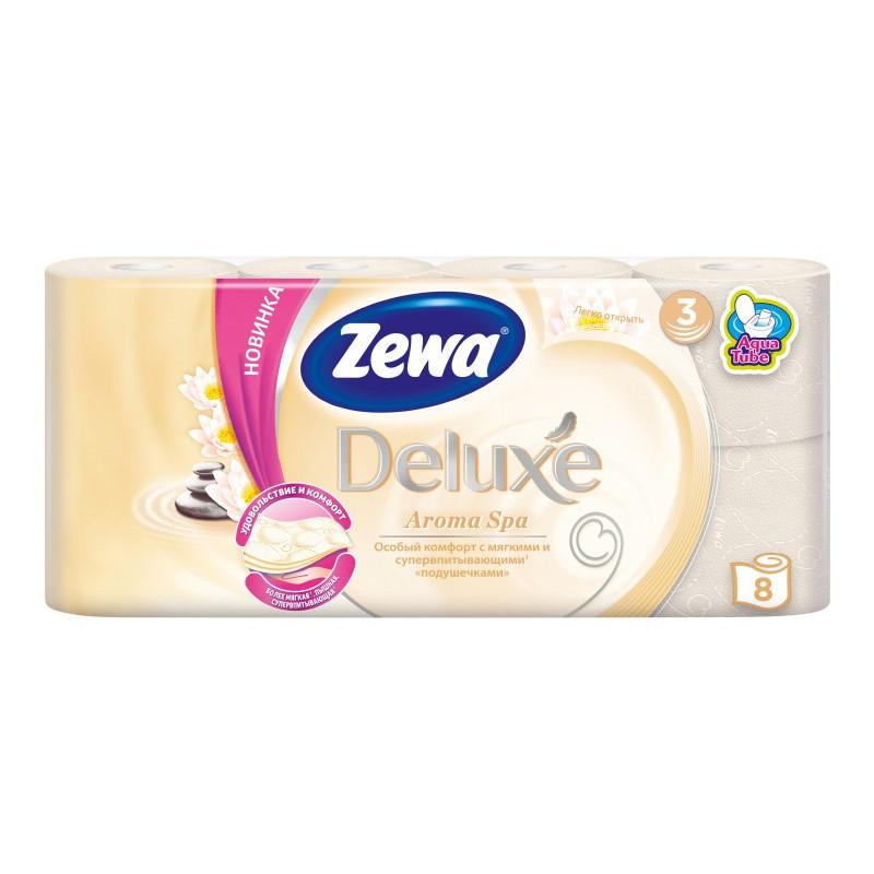 Туалетний папір Zewa Deluxe Aroma Spa, тришарова, 8шт