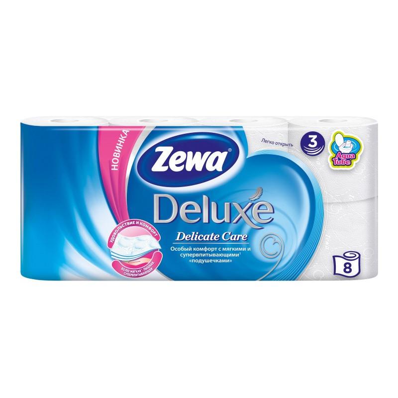 Туалетний папір Zewa Deluxe Delicate Care, тришарова, 8шт