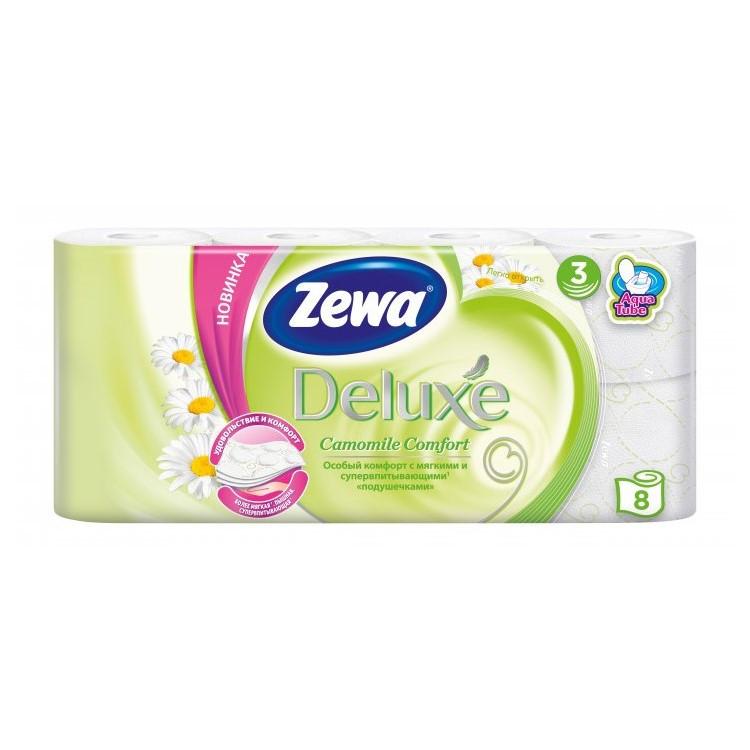 Туалетний папір Zewa Deluxe Camomile Comfort, тришарова, 8шт