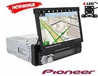 Автомагнитола Pioneer 9601G с выдвижным экраном (моторизированным)1DIN на Windows с навигатором GPS Камера