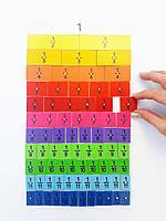 """Магнітний прилад HEGA """"Частин і дробів"""" 78 складових частин, фото 1"""