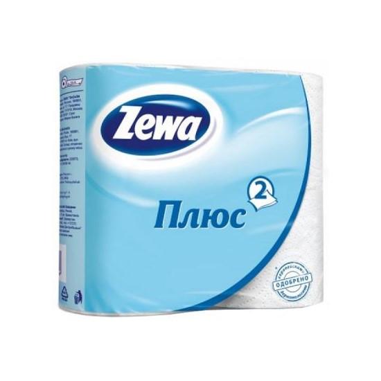 Туалетний папір Zewa Плюс Біла, двошарова, 4шт