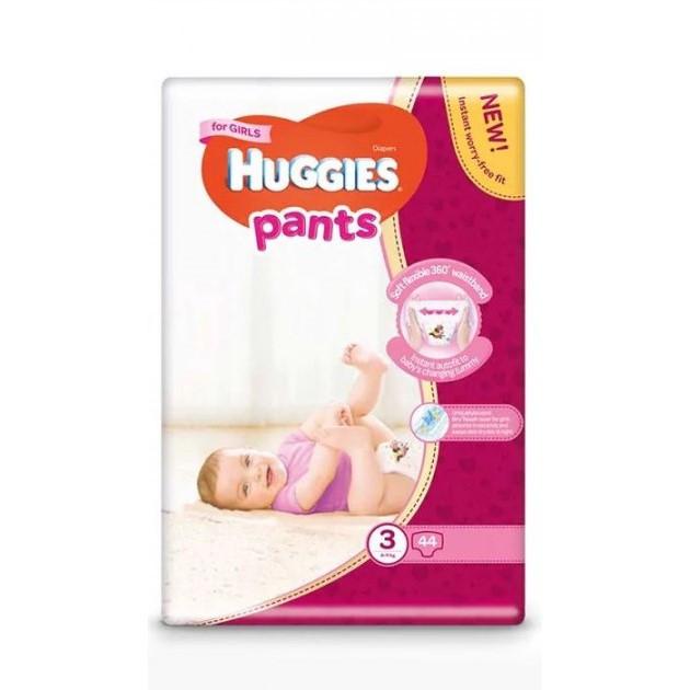 Підгузки-трусики Huggies Pants для дівчаток 3 (6-11кг), 44шт