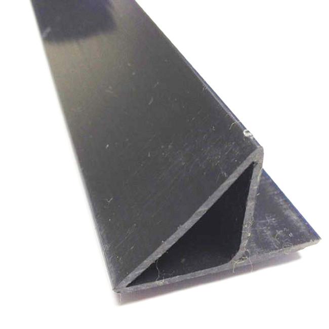ПВХ Уголок флажком 20 мм. для фаски колонн (фаскообразователь и защита стыка от протечки молока), 3 м.
