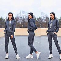 Женский спортивный костюм, костюм для прогулок S/M/L/XL (серый), фото 1