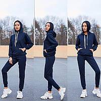 Женский спортивный костюм, костюм для прогулок S/M/L/XL (темно-синий), фото 1