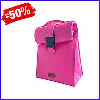 Термосумка для обедов с судочками в комплекте, lunch bag ланч бэг для ланча с собой Organize LBag-Pink розовый