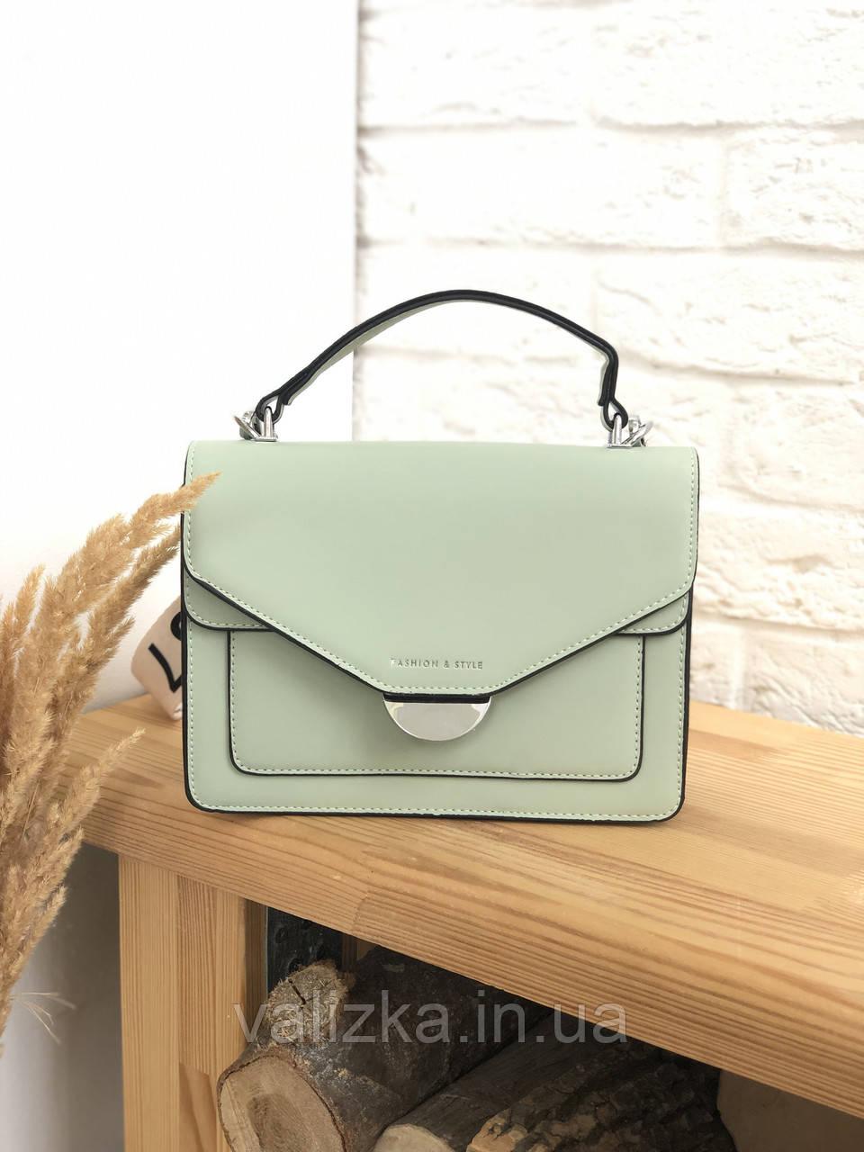Женская сумка кросс-боди мятного цвета