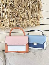 Женская сумка кросс-боди мятного цвета, фото 3