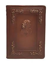 """Ежедневник А6 формата в кожаной обложке с не датированным сменным блоком """"Елена"""""""