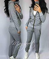 Женский спортивный костюм, есть большие размеры S/M/L/XL//2XL/3XL/4XL (серый), фото 1
