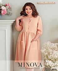 Платье женское льняное размеры: 52-64, фото 2