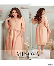 Платье женское льняное размеры: 52-64, фото 3