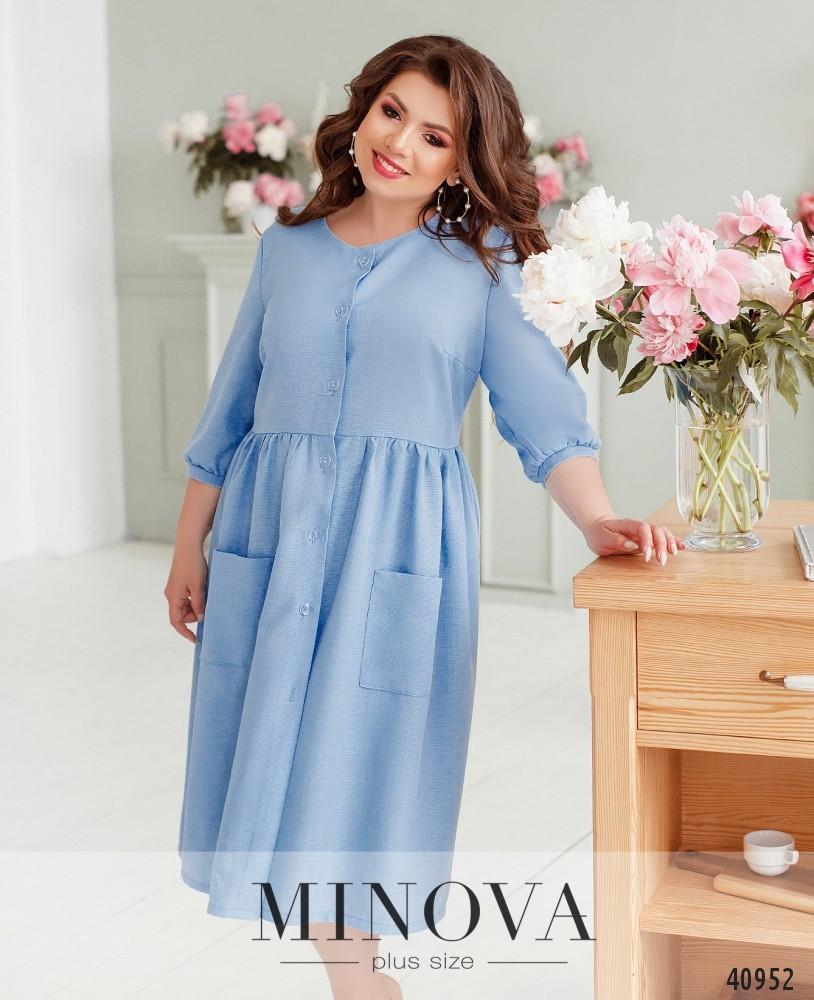 Платье женское льняное размеры: 52-64