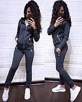 Женский спортивный костюм, есть большие размеры S/M/L/XL//2XL/3XL/4XL (темно-серый), фото 1