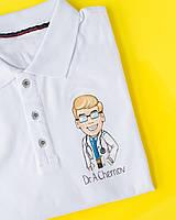 Медичне поло з індивідуальним малюнком ручної роботи, фото 1