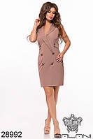 Платье стильное двубортное в расцветках 52540, фото 1