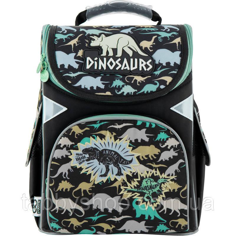 Ранец ортопедический для мальчика GoPack с динозаврами 5001S-12