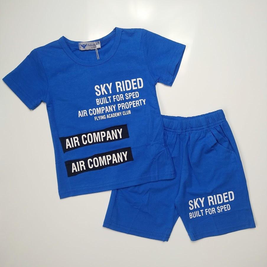 Летний костюм для мальчика Pelin Kids Синий р. 104, 110, 116