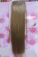 Хвост искусственные волосы термоволокно на ленте прямые золотистый