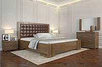 Кровать деревянная Амбер  с подъемным механизмом орех ТМ Arbor Drev. Акция -10%