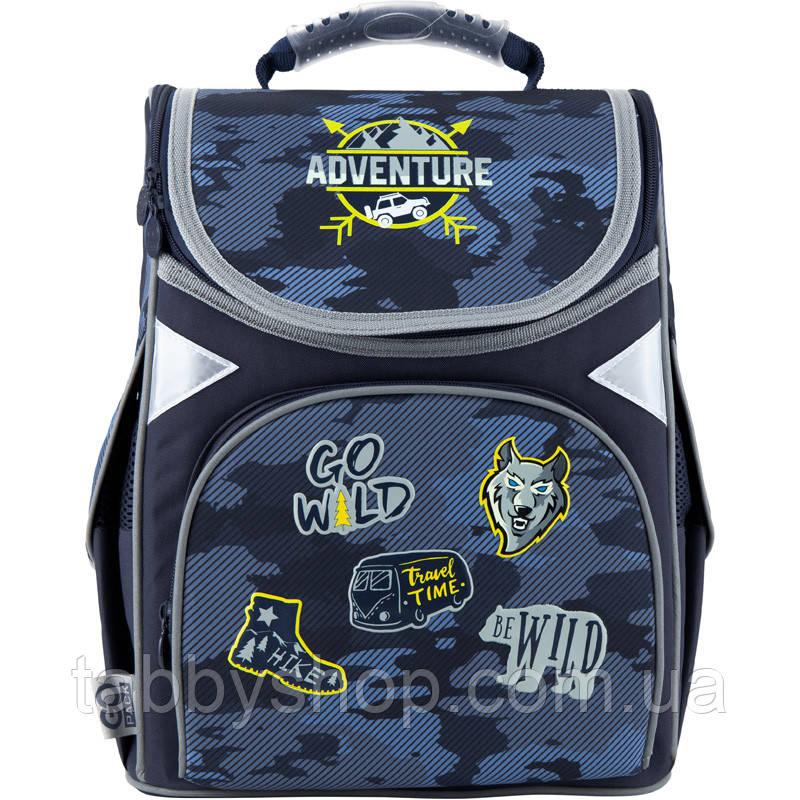 Ранець ортопедичний для хлопчика GoPack Adventure синій 5001S-16