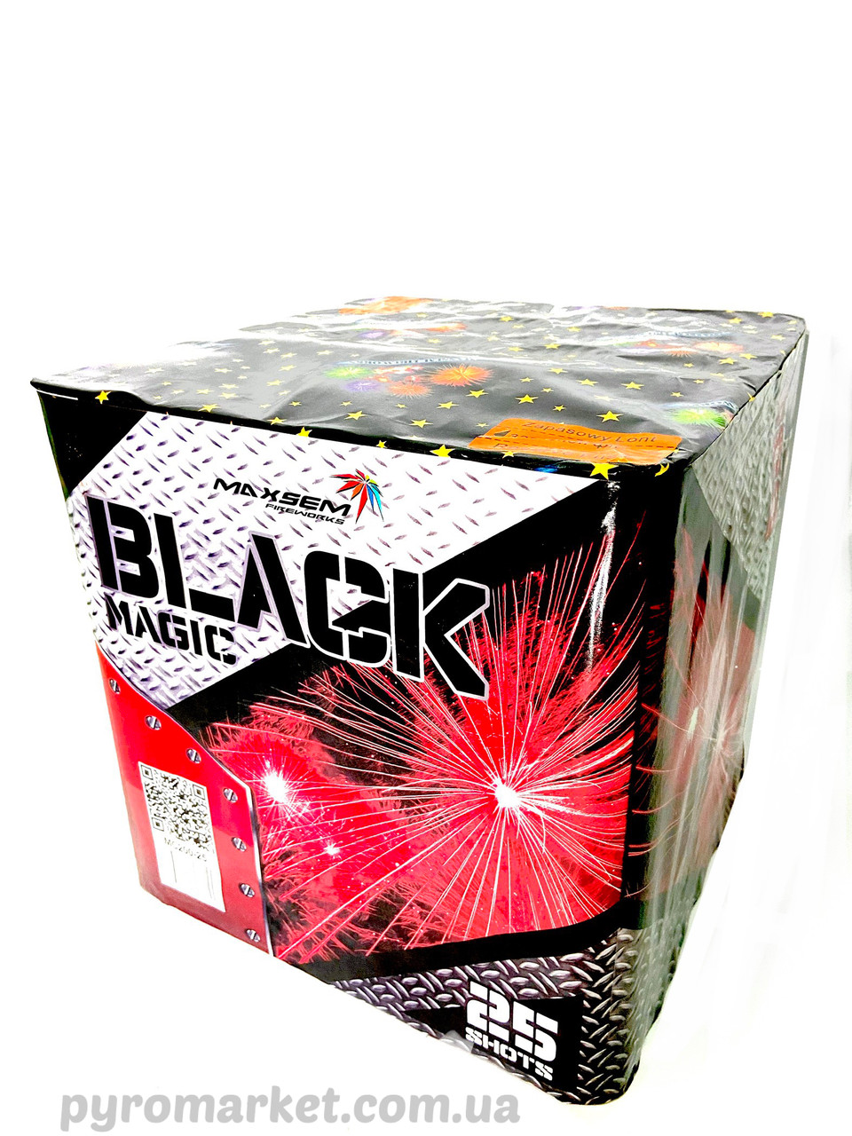 Салют Black magic Maxsem Mc200-25, 25 выстрелов 50мм